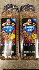 2 x McCormick Grill Mates MONTREAL STEAK SEASONING 29 oz.  (58 oz total)
