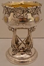 RARE STERLING BROOKLYN FIGURAL BILLIARDS POGGENBURG TROPHY 1918 DIEGES & CLUST