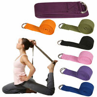 Yoga Stretch Strap Cotton Yoga D-Ring Belt Figure Waist Leg Fitness Exercise Gym