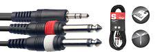 STAGG 6m Mini Stereo Jack - 2 Mono Jacks Cable