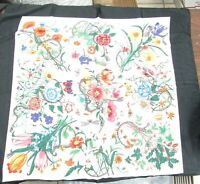 Gucci Firenze 1921 V Accornero Floral Snake Print Silk Scarf NewWith Tag & Bag