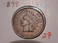 1899 INDIAN HEAD CENT AU DETAILS NICE ATTRACTIVE COIN COMBINED SHIPPING