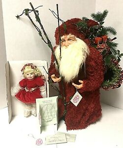"""Rare Marie Osmond Limited Edition Santa And Doll """"You've Been Very Good"""" McCall"""