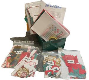 Creative Memories All that Glitters Card Kit & Bonus Items Stickers Christmas