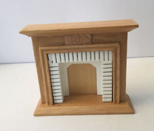 Dolls House Pine Fireplace