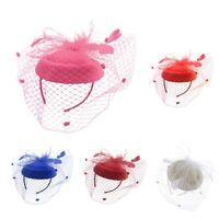 Fascinators Hats Cocktail Tea Party Hat Headwear with Veil for Women Girls
