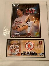 NEW MANNY RAMIREZ RED SOX 2004 WORLD SERIES MVP 12X16 MATTED PHOTO & EVENT COVER