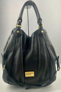 Marc by Marc Jacobs Classic Q Francesca Black Leather Hobo Bag-Large (Authentic)