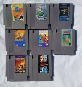 Nintendo NES Cartridge Games Lot of 8 Includes Super Mario 1 and Duck Hunt