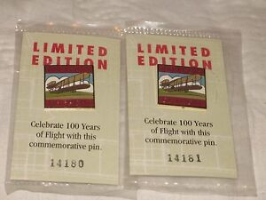 2 Limited Edition 100 years Of Wright Brothers Flight Pins