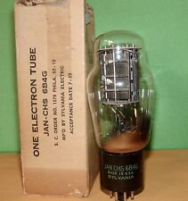 JAN CHS Sylvania 6B4 G Vacuum Tube Very Strong  1952  Results = 77