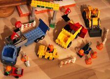 Lego Duplo Ville großer Kran Verladekran Orange Silber Baustelle Eisenbahn