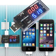 USB Charger Current Voltage Charging Detector Battery Tester Volt Meter AmmeterX