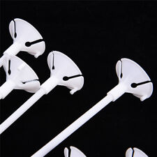 20Pcs White Balloon Sticks Holders with Cups for Wedding Party Decoration
