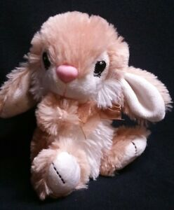 Dan Dee Plush Hoppy Hopster Easter Bunny Rabbit Soft Tan White Stuffed Animal