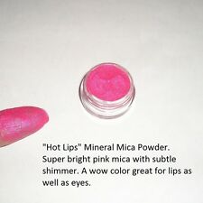 """Hot Lips"" Mineral Mica Powder Eye Shadow ~ Bright Pink ~Vegan"