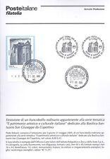 BOLLETTINO COMPLETO DI FRANCOBOLLI ANNULLO FDC: 2005 BASILICA GIUSEPPE COPERTINO