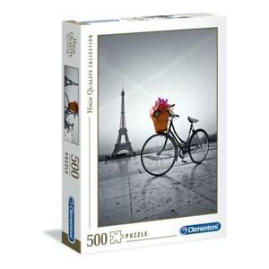 puzzle Clementoni 500 pezzi ROMANTIC PROMENADE IN PARIS High Qual. 35014 OMAGGIO