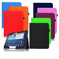 "New Folio Case Vegan Leather Stand Cover for Samsung Galaxy Tab 2 10.1"" SGH-I497"
