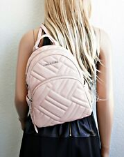 Michael Kors Rucksack/Tasche ABBEY MD Backpack Quilted Leather Pastel Pink NEU