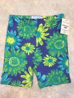 NWT Guess Girls Multi-Color Cotton Blend Floral Cropped Pants Sz 24 M