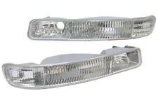 fit 99-06 GMC Sierra Yukon XL Clear Bumper Signal Lights Pair DEPO