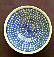"Boleslawiec Polish Pottery Round  9.25"" by 5""  Serving Bowl  Vintage"