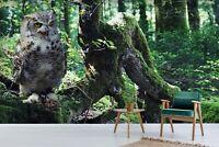 3D Eule Wald M8887 Tier Tapete Wandbild Selbstklebend Abnehmbare Angelia