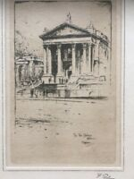 F.Robson Old Etching Tate Gallery London