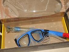 Body Glove Reliance Dive Scuba Snorkel Mask Set Blue Frame Tempered Lens Used
