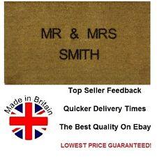 Personalised Engraved Coir Door / Floor Mat 40cm x 70cm Internal Coir Etched