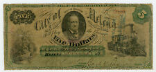 1875 $5 The City of Helena - Helena, ARKANSAS Note
