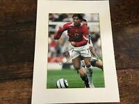 Christiano Ronaldo, Manchester United, signed mounted photo & signature