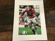 Christiano Ronaldo, Manchester United, signed mounted photo & signature