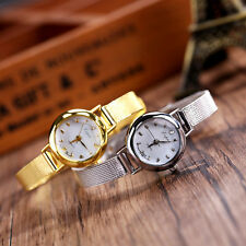 Women's Fashion Lady Bracelet Stainless Steel Crystal Dial Quartz Wrist Watch
