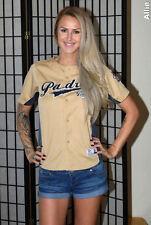 San Diego Padres Stitched MLB Baseball Jersey - Gold - True Fan - Youth medium