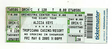 Alicia Keys May 6, 2005 Tropicana Casino, Atlantic City Untorn Ticket