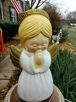 Vintage Blow Mold Golden Angel Grand Venture Christmas Plastic Lighted