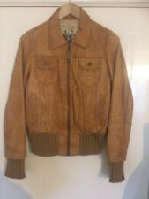 Tan leather womans jacket size 12