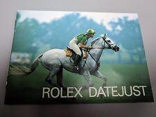 Original Rare Vintage 1988 Rolex Datejust  Manual Booklet Ref 593.06 English