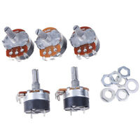5PCS Switch Carbon Potentiometer WH138-1 B100K Ohm Single Linear With C rd