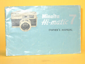 Original(!) Minolta Owner´s Manual for Hi-matic 7 - in English!