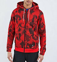 Mens Nike Kyrie Hoodie Full Zip top Red Graphic print Size M NEW RARE LAST 2