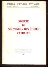 COLLECTIF, SOCIÉTÉ DU SOUVENIR ET DES ÉTUDES CATHARES