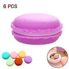6pc Mini Macarons Box Jewelry Trinket Outing Organiser Storage Container Girl KJ