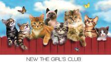 "Cats On Fence Towel Girls Club Beach Towel 30""x 60"""