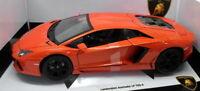 Burago 1/18 Scale Diecast - 18-11033 Lamborghini Aventador LP 700-4 Orange