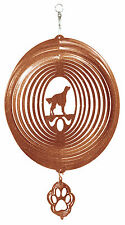 SWEN Products IRISH SETTER Dog Circle COPPER Swirly COMBO Metal Wind Spinner
