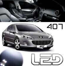 Peugeot 407 Pack 10 Ampoules LED Blanc Eclairage habitacle Veilleuses Plaque