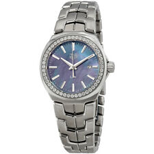 Tag Heuer Link Blue Mother of Pearl Diamond Dial Ladies Watch WBC1315.BA0600